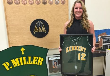 Paige Miller '11 has Jersey Retired