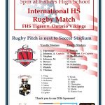 Fishers Rugby to Host International HS Match