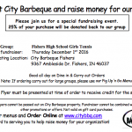 FHS Girls Tennis & City Barbeque 12/1 Dine & Donate