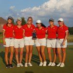 Fishers High School Girls Varsity Golf beat Hamilton Southeastern High School 166-167