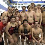 Boys Varsity Swimming beats Hamilton Southeastern 104 – 82