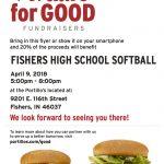 Softball Portillo's Dine-To-Donate @fisherssoftball