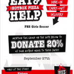 Girls Soccer Dine & Donate – Hot Box 9/27