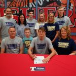 Parker Beale signs to play volleyball at Trine University @TrineAthletics