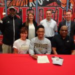 HL Lewis signs to play football and run track at Purdue University @PurdueSports