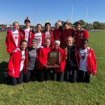 Girls Varsity Cross Country finishes 1st place at IHSAA Sectionals @ Pendleton Heights High School