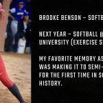 Tiger Senior Spotlight – Brooke Benson
