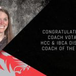 Congratulations Coach Votaw – HCC & IBCA District Coach of the Year