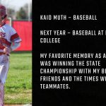 Tiger Senior Spotlight – Kaid Muth