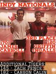 Griffin Ingalls Places Top 3; 4 Tigers Compete at Indy Nationals