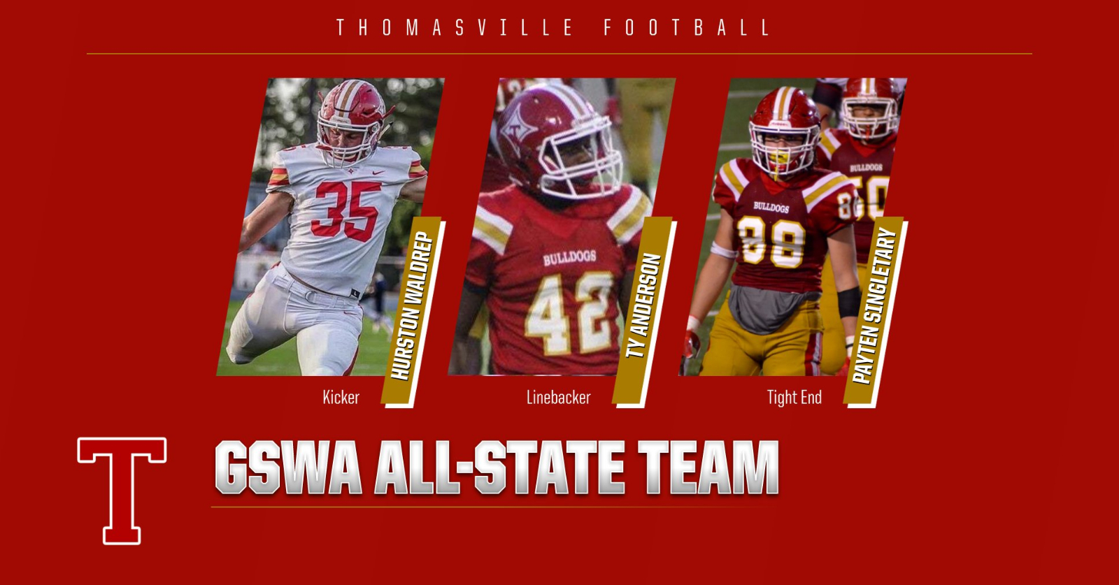 GSWA Honors Bulldog Football Players