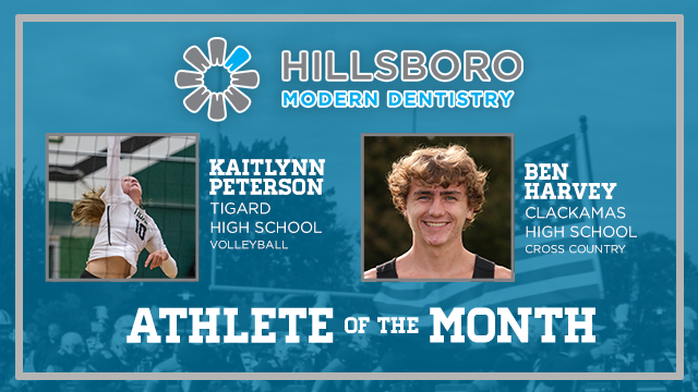 And the Hillsboro Modern Dentistry October Athlete of the Month is….