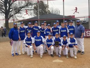 NC Middle School Baseball- Conference Tournament Champions