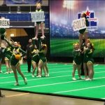 Cheer leaders at state competition