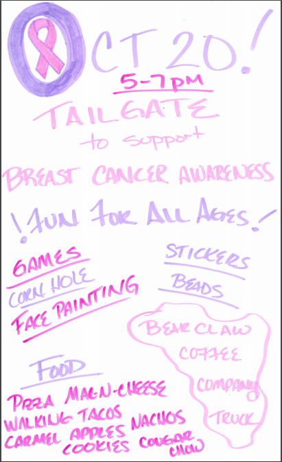 Tailgate Tonight before the Football Game, 5p-7p