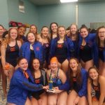 Girls Varsity Swimming finishes 3rd place at Charger Relays