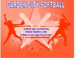 Softball Meeting Friday, March 12th: JV & Varsity