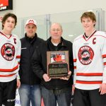 Sohns Honored at Final Home Game