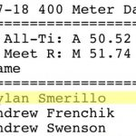 Smerillo Breaks Records at Indoor Track Championships
