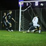 White Hawks boys soccer winning goal vs. Holy Family