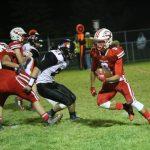 Evan Dahl running the ball