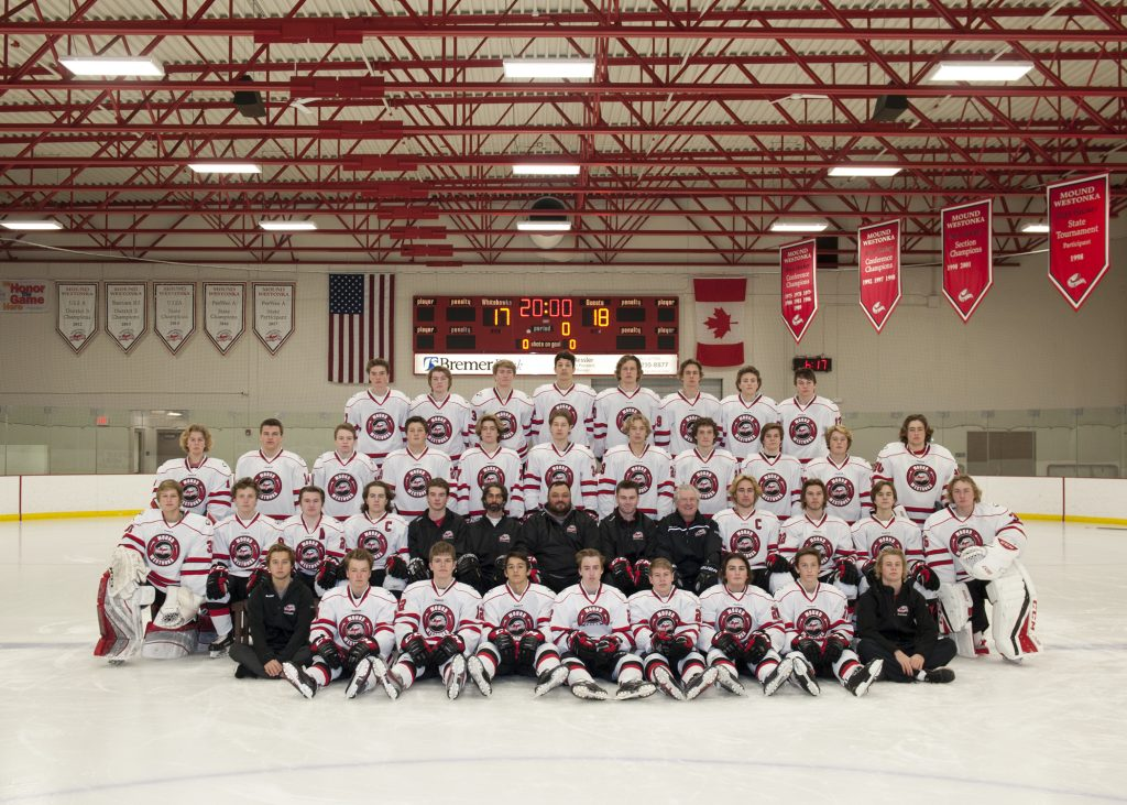 2017-2018 MWHS Boys Hockey Team