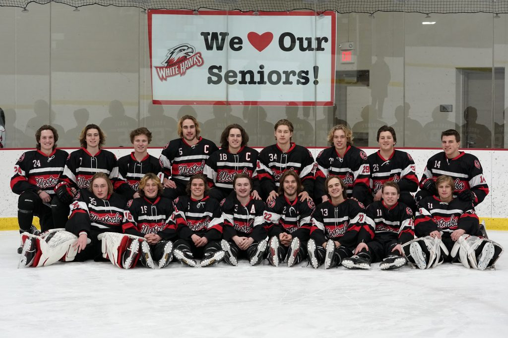 Boys hockey seniors 2018