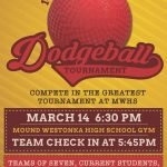 2018 Dodgeball Tournament poster