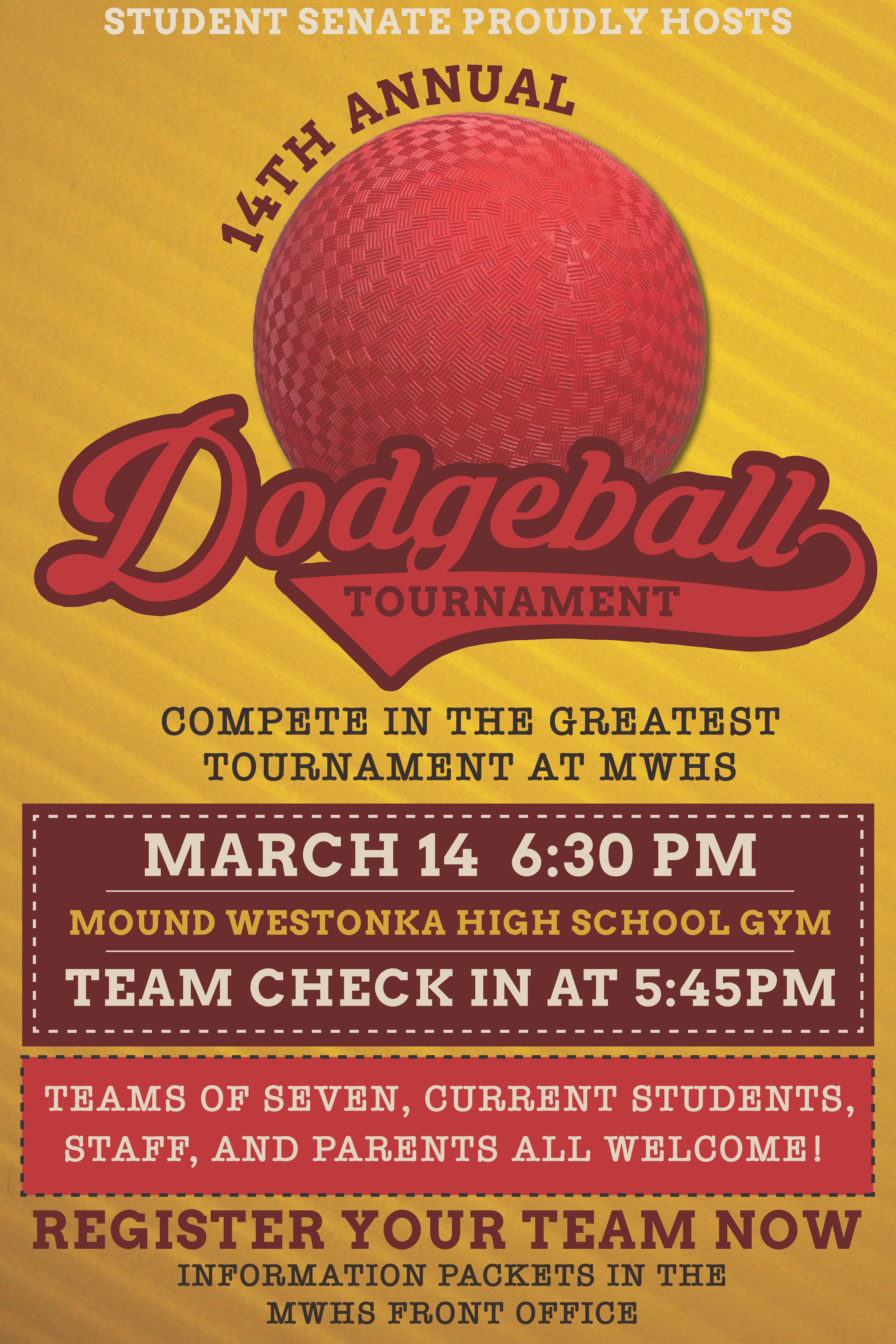 Student Senate to Host 14th Annual Dodgeball Tournament