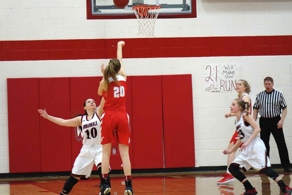 Jen Schaible scores 1,000th point
