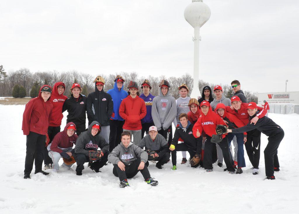 Outdoor baseball practice 4-10-18