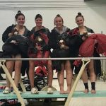 Girls Swim Celebrates Seniors with Victory Over Marshall