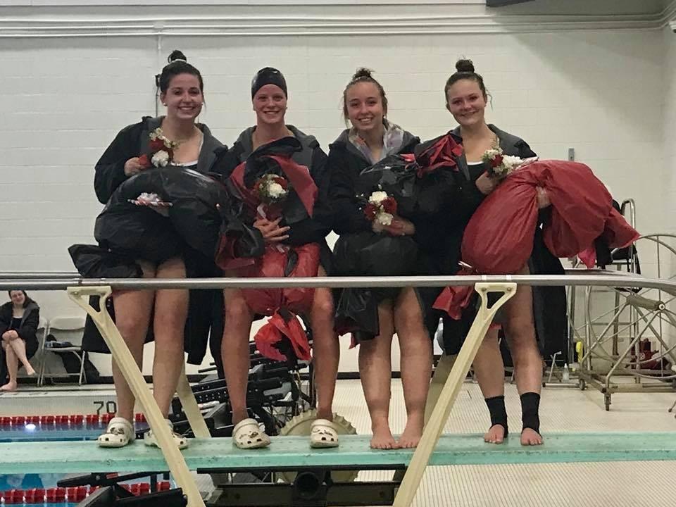Girls swim seniors