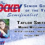 White Hawks Goalie Taylor Smith Up for State Hockey Award