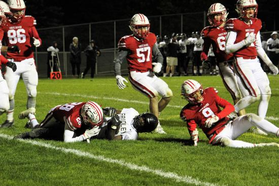 White Hawks Fall to No. 6-Ranked Fridley, 31-6