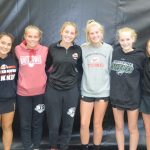 Girls tennis individual section competitors
