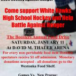 Come Out for Hockey Against Hunger Jan. 11