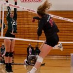 MWHS Volleyball Sweeps Holy Family on Senior Night
