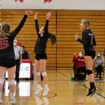 White Hawks Volleyball Loses Pair of Close Contests