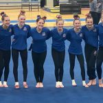 Gymnastics team at state