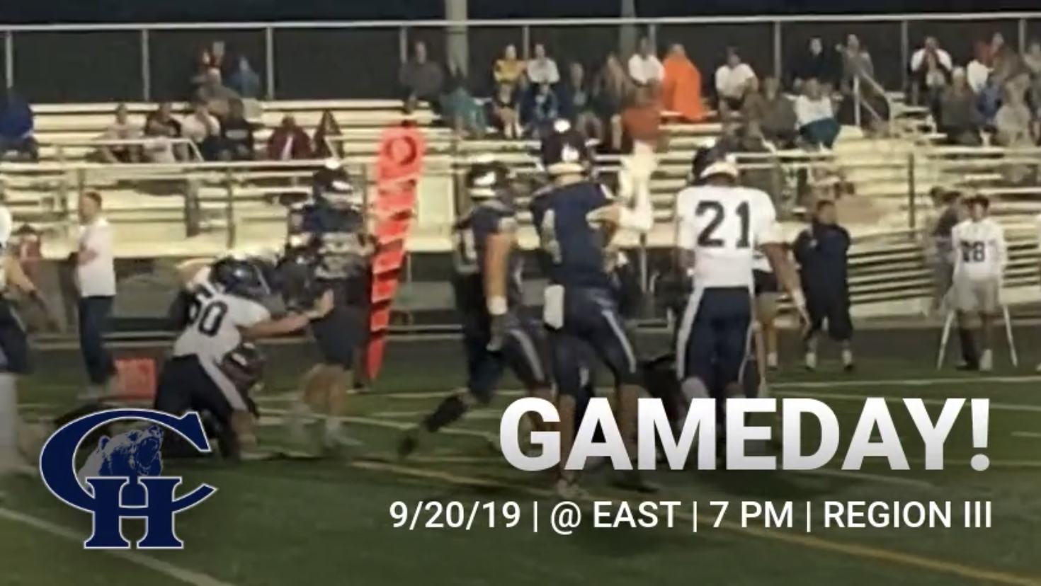 Football:  Grizzlies on the road at East HS