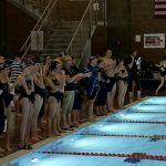 Women's Varsity Swimming beats Riverton 160 – 123