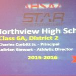 Northview Athletic Department Receives AHSAA Award