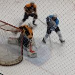 Skyline High School Boys Varsity Hockey beat Saline Area Schools 4-3