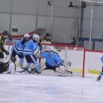 Skyline High School Boys Varsity Hockey beat Ann Arbor Huron High School 4-1