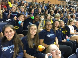 Skyline Volleyball attends U of M Volleyball Game