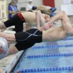 Boys Varsity Swimming beats Bedford 123 – 62