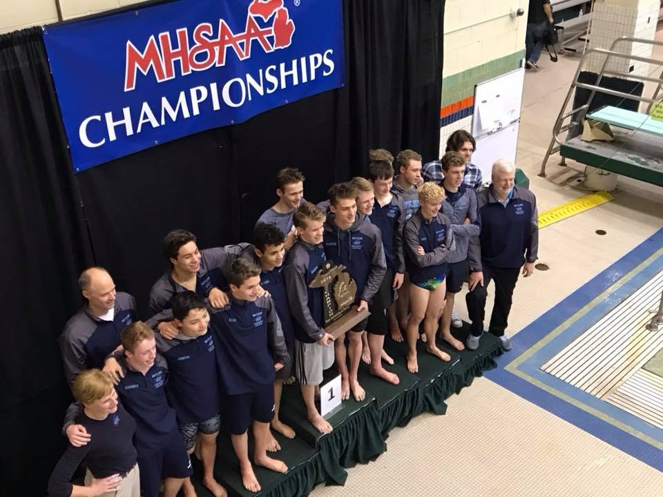 Boys Swim team wins MHSAA Div 1 State Championship