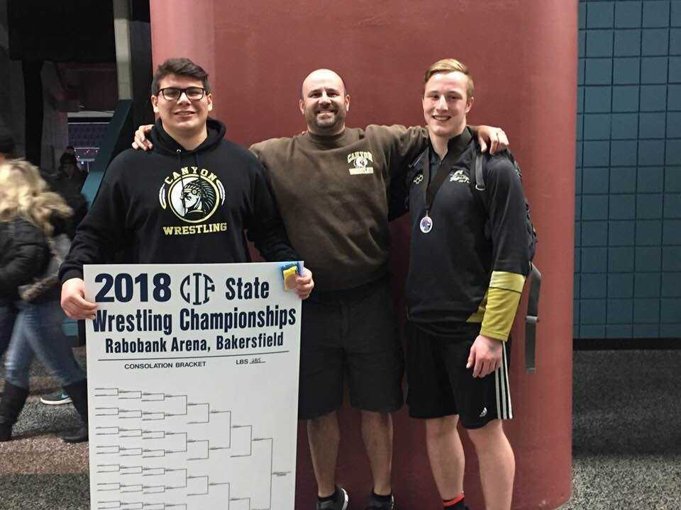 Canyon Wrestlers Tarango & Bisping place at State Tournament!