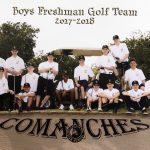 Boys Frosh Soph Golf Team 2018